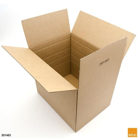 Halvpallscontainer med låsflikar för pall