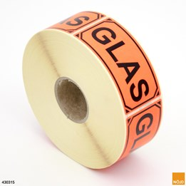 "Etikett- Text ""Glas"""