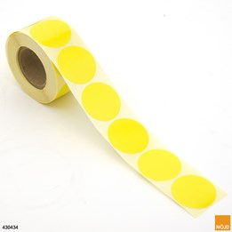Etikett rund gul