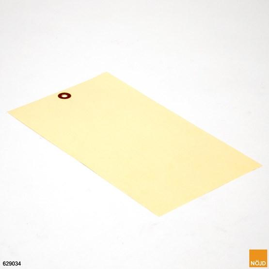 Adresslapp Gul med pappersförstärkt hål av manilla